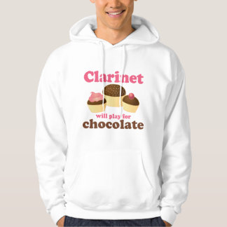Funny Clarinet Will Work For Chocolate Hoodie