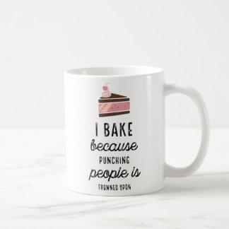 Funny Classic Mug I Bake Because Punching People