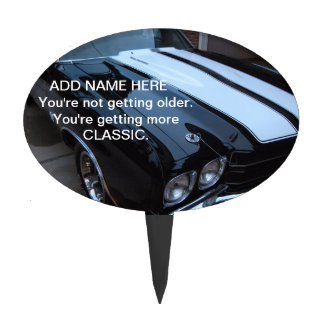 Funny Classic Muscle Car Cake Topper