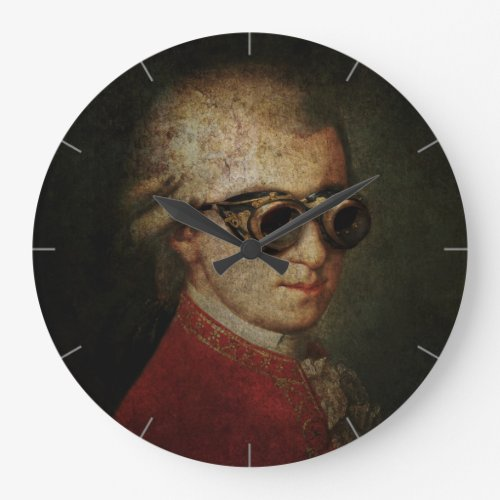 Funny Classical Composer Steampunk Mozart Wallclock