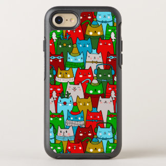 Funny Classy Christmas Cats OtterBox iPhone 7 Case