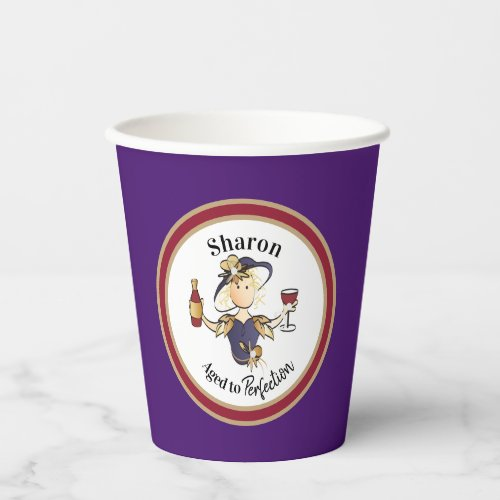 Funny Classy Sassy Personalized for Her Birthday  Paper Cups