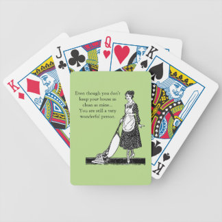 Funny Clean House - Customize Bicycle Playing Cards
