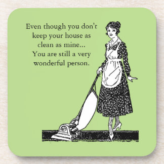 Funny Clean House - Customize Drink Coaster