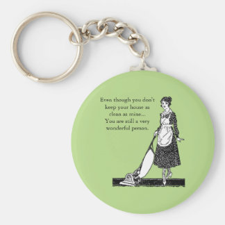 Funny Clean House - Customize Keychain