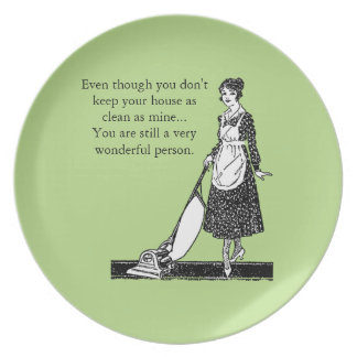 Funny Clean House - Customize Melamine Plate