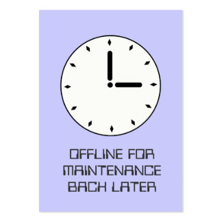 Funny Clock Face Scheduled Maintenance Card Business Card Template