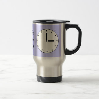 Funny Clock Face Scheduled Maintenance Travel Mug