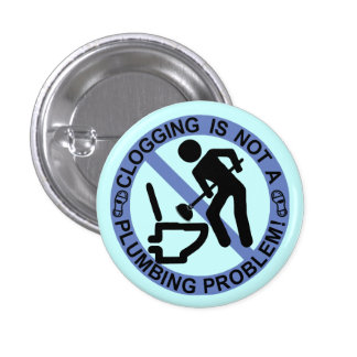 Funny Clogger Clogging Blue 1 Inch Round Button