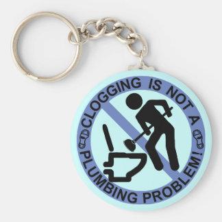 Funny Clogger Clogging Blue Keychain