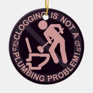 Funny Clogger Clogging Ceramic Ornament