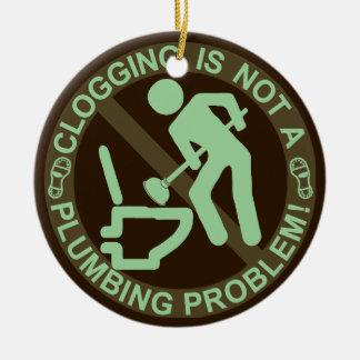 Funny Clogger Clogging Green Ceramic Ornament