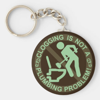 Funny Clogger Clogging Green Keychain