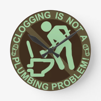 Funny Clogger Clogging Green Round Clock