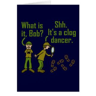 Funny Clogger Footsteps Cartoon Card