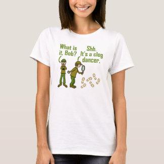 Funny Clogger Footsteps Cartoon T-Shirt