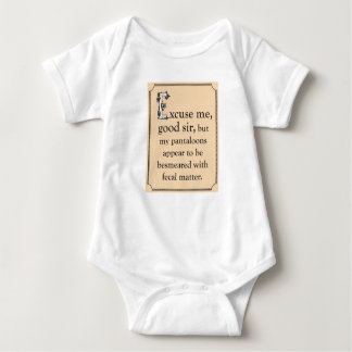 Funny clothing for your proper baby, or children. baby bodysuit