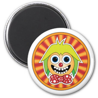 Funny clown 2 inch round magnet
