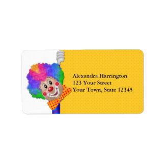 Funny Clown Address Label