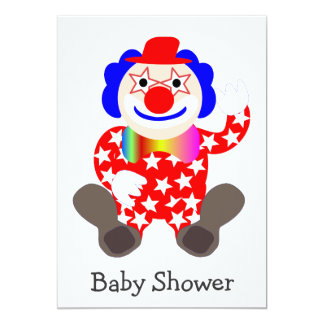 Funny Clown Baby Shower Invitation