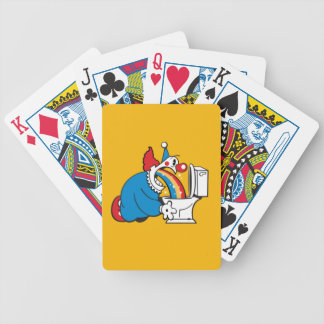 funny clown bicycle playing cards