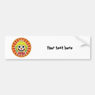 Funny clown car bumper sticker