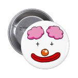 Funny clown face button
