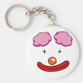 Funny clown face keychains