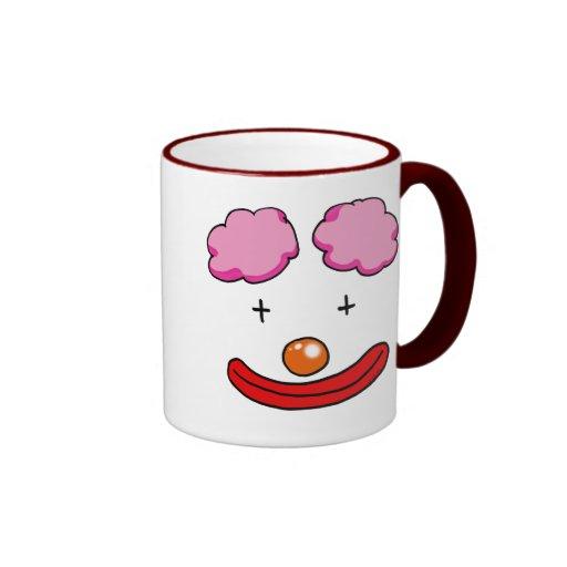 Funny clown face ringer mug