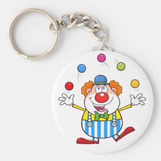 Funny Clown Juggling Keychain