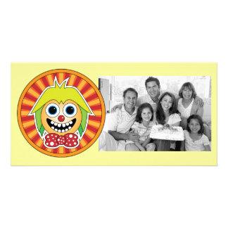 Funny clown photo card