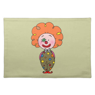 Funny clown placemats