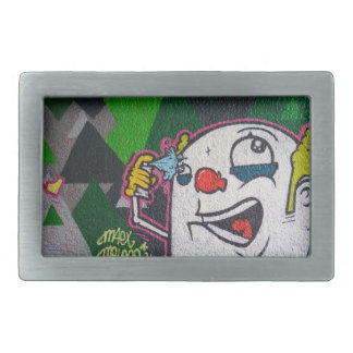 Funny Clown With White Face Belt Buckle