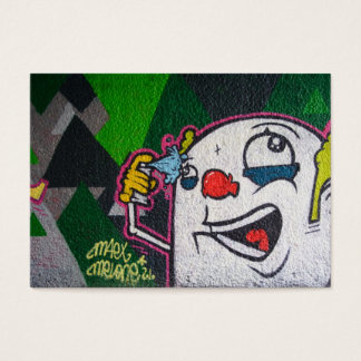 Funny Clown With White Face Business Card
