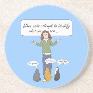 Funny Clueless Kitties Coaster
