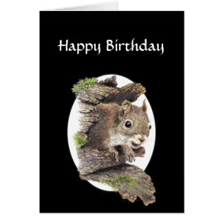 Funny Co worker Birthday, Sense of Humor, Squirrel Card