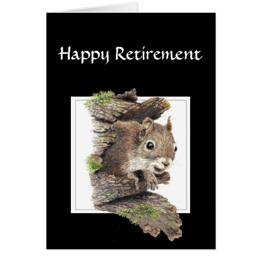 Funny Co worker Retirement, Squirrel, Nuts Greeting Cards
