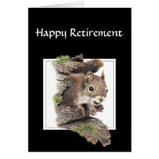 Funny Co worker Retirement, Squirrel, Nuts Greeting Card