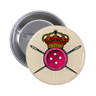 Funny Coat of Arms For People Who Love Sewing Button