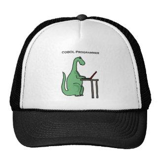 Funny COBOL Programmer Dinosaur Trucker Hat