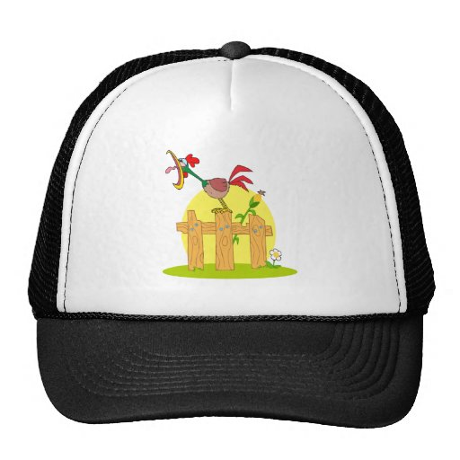 funny cock a doodle doo rostering crowing trucker hat