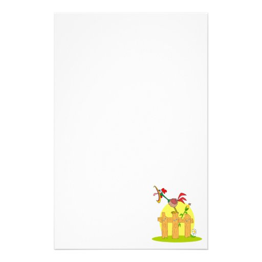 funny cock a doodle doo rostering crowing customized stationery