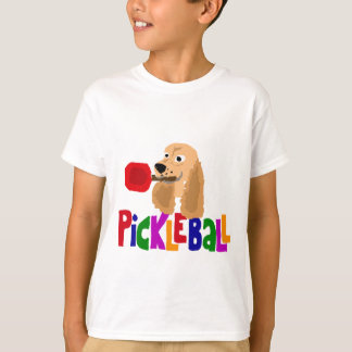 Funny Cocker Spaniel with Pickleball Paddle T-Shirt