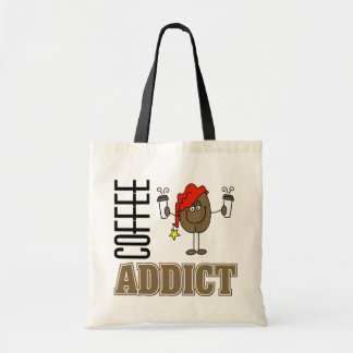 Funny Coffee Addict Canvas Bags