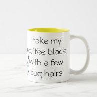 Funny Coffee black with Dog hair Mug