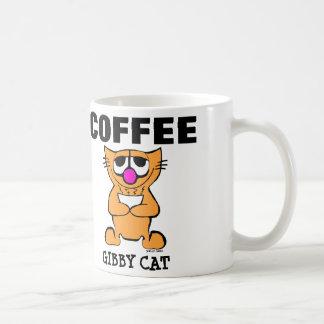 Funny Coffee Cat Mugs, Gibby Cat Coffee Mug