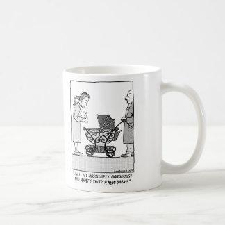 Funny Coffee Comic about Baby Stroller Coffee Mug
