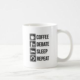 Funny Coffee Debating Sleep Repeat Coffee Mug