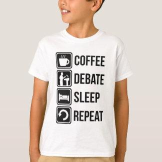 Funny Coffee Debating Sleep Repeat T-Shirt
