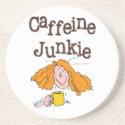 Funny Coffee Drinker's Sandstone Coaster coaster